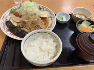 生姜焼き定食 ナス(のっぷい)が美味しかったです!