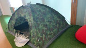 ソロ用テントがありました。